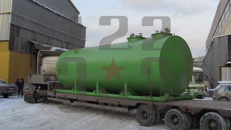 Резервуар для ГСМ на санях (вариант 2)
